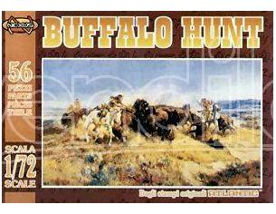 Atlantic Atl017 Buffalo Hunt Kit 1:72 Kit Figura Militari