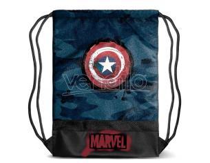 Marvel Captain America Borsa Palestra con scudo 48cm Karactermania