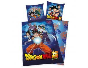 Dragon Ball Copripiumino Letto Blu 135 x 200 cm, 80 x 80 cm