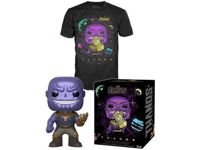 Avengers Infinity War Set Funko POP Vinile Figura Thanos & T-Shirt