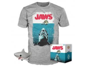 Jaws Set Funko POP Vinile Figura Squalo Nuoto Notturno & T-Shirt