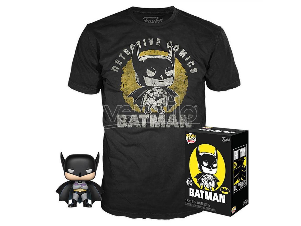 Batman DC Comics Set Funko POP Vinile Figura Batman & T-Shirt