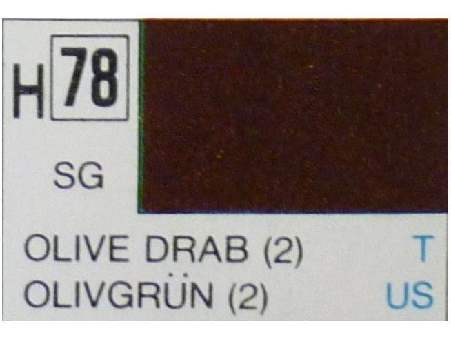 Gunze GU0078 OLIVE DRAB SEMI-GLOSS ml 10 Pz.6 Modellino