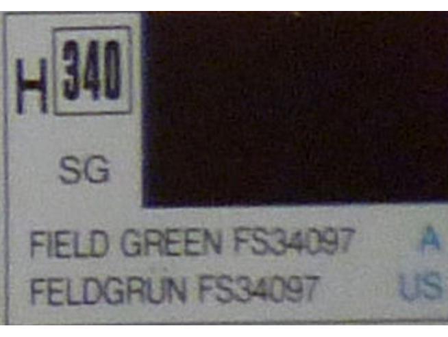 Gunze GU0340 FIELD GREEN SEMI-GLOSS ml 10 Pz.6 Modellino