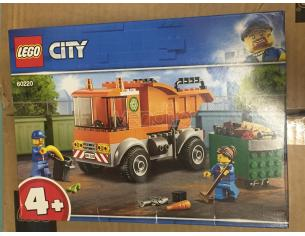 LEGO CITY POLIZIA 60220 - CAMION DELLA SPAZZATURA BOX ROVINATO