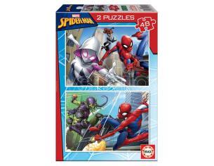 Spider Man puzzle 2x48pcs Educa Borras