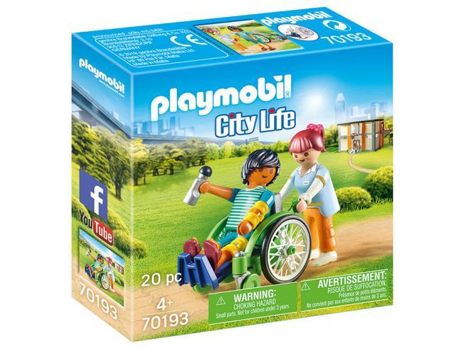 PLAYMOBIL PAZIENTE CON SEDIA A ROTELLE CITY LIFE - COSTRUZIONI