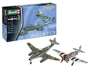 REVELL RV03711 ME262 & P-51B COMBAT SET KIT 1:72 Modellino