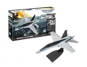 REVELL RV64965 MAVERICK'S F/A-18 HORNET TOP GUN MODEL SET KIT 1:72 Modellino