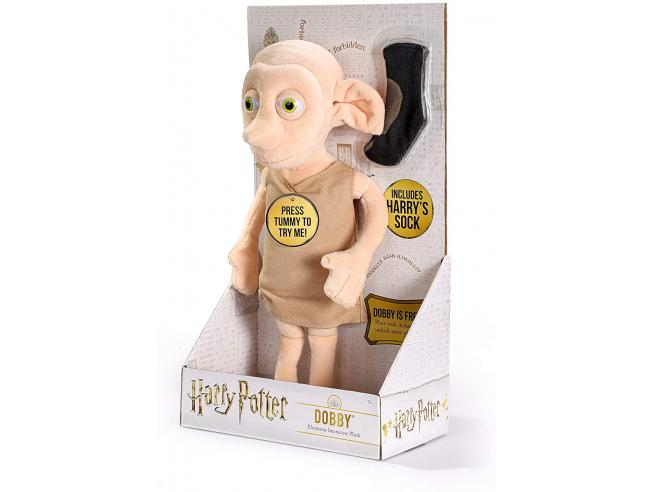 Harry Potter Peluche Interattivo Dobby con Calzino 32 cm Noble Collection