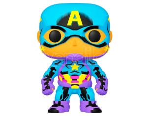 Marvel Black Light Funko POP Super Eroi Vinile Figura Capitan America 9 cm