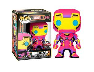 Marvel Black Light Funko POP Super Eroi Vinile Figura Iron Man 9 cm
