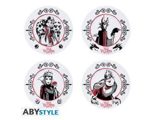 Disney - Set Of 4 Plates - Disney Villains
