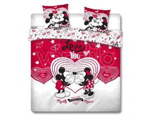 Disney Mickey E Minnie Love Copripiumino Letto 135cm Disney