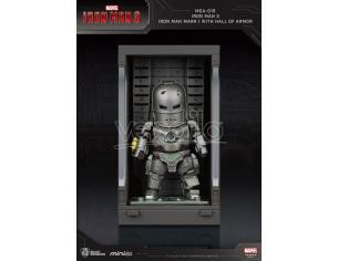 Iron Man 3 Statua Sala Delle Armature Mark I Figura 8cm Mini Uova Beast Kingdom