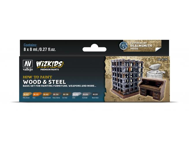 Wizbambino Ps Wood & Steel Colori Vallejo