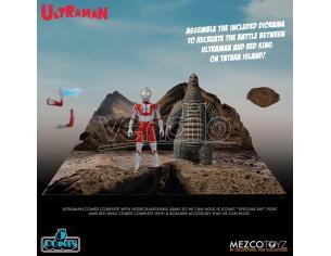 5 Points Ultraman E Red King Boxed Set Action Figura Mezco Toys