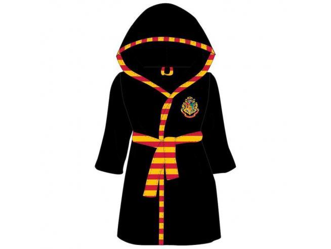 Harry Potter Accappatoio Adulto Nero con Stemma Hogwarts Warner Bros.