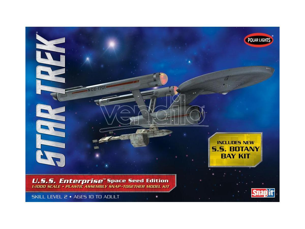 STAR TREK TOS USS ENTERPRISE SPACE SEED MODEL KIT POLAR LIGHT