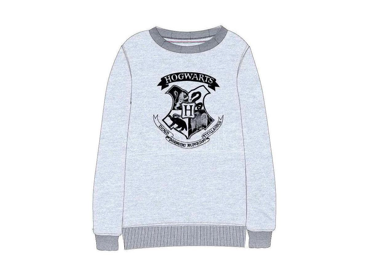 Harry Potter Felpa Grigia con Stemma Hogwarts Warner Bros.