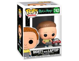 Pop Figura Rick E Morty - Morty Con Laptop Esclusiva Funko