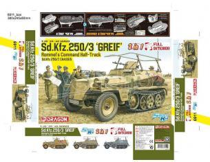DRAGON D6911 SD.KFZ.250/3 GREIF 2 IN 1 KIT 1:35 Modellino