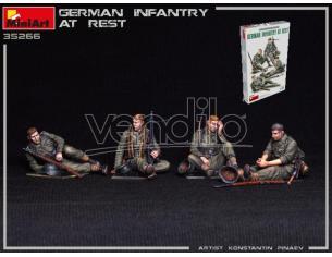 MINIART MIN35266 GERMAN INFANTRY AT REST KIT 1:35 Modellino