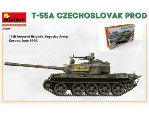 MINIART MIN37084 T-55A CZECHOSLOVAK PROD.KIT 1:35 Modellino