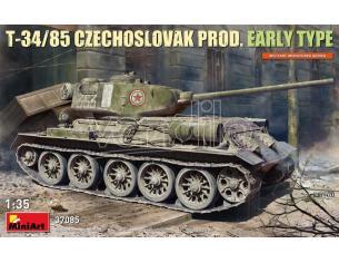 MINIART MIN37085 T-34/85 CZECHOSLOVAK PROD. EARLY TYPE KIT 1:35 Modellino
