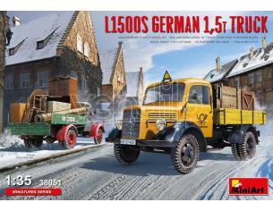 MINIART MIN38051 L1500S GERMAN 1,5T TRUCK KIT 1:35 Modellino