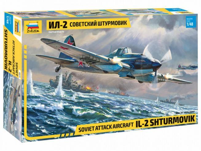 ZVEZDA Z4825 IL-2 STORMOVIK KIT 1:48 Modellino