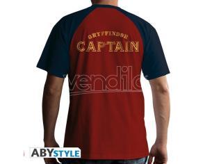 """Harry Potter T-shirt """"Maglietta Quidditch"""" Uomo Ss Rossa Premium Taglia M"""
