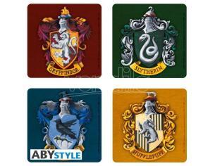 "Harry Potter - Set 4 Sottobicchieri ""Casate di Hogwarts"""