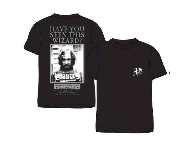 "Harry Potter T-Shirt Nera ""Hai Visto Questo Mago?"" Sirius Black"