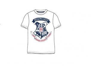 Harry Potter T-Shirt Bianca con Stemma Hogwarts