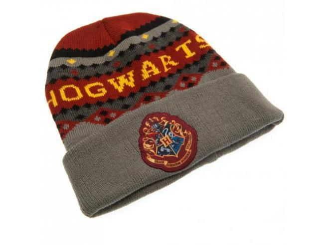 Harry Potter Berretta Invernale Grigia e Rossa Hogwarts Taglia Unica Warner Bros.