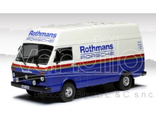 IXO MODEL RAC285X VW LT WHITE-BLUE ROTHMANS-PORSCHE  RALLY ASSISTANCE W/ROOF RACK 1:43 Modellino