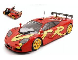 SOLIDO SL1804102 MC LAREN F1 GTR SHORT TAIL 1996 RED/YELLOW 1:18 Modellino