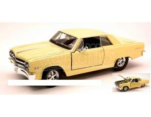Maisto MI31258 CHEVROLET MALIBU SS 1965 LIGHT YELLOW 1:24 Modellino