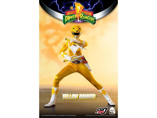 Mighty Morp Power Rangers Yellow Ranger Action Figura Threezero