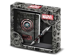 Marvel Captain America Diario + Pen Set Karactermania