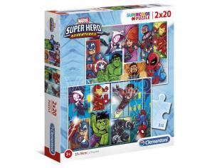 Marvel Superhero Maxi puzzle 2x20pzs Clementoni