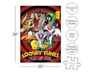 LOONEY TUNES 1000 PCS PUZZLE PUZZLE AQUARIUS ENT