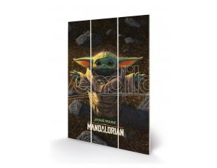 MANDALORIAN THE CHILD SMALL WOOD PRINT STAMPA SU LEGNO PYRAMID INTERNATIONAL