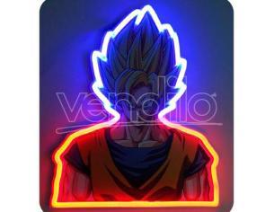 Dragon Ball Z Vegeta Neon Mural Lampada Teknofun