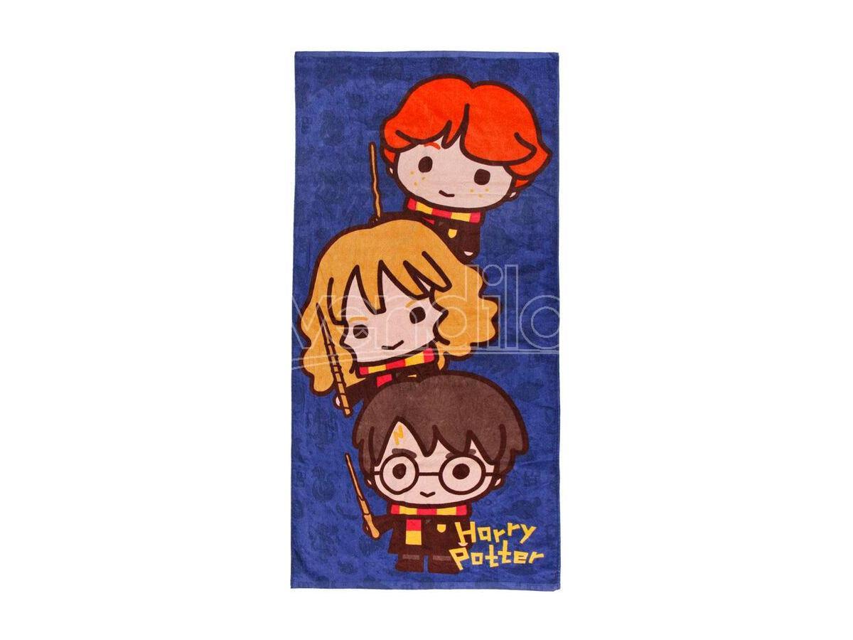 Harry Potter Asciugamano Telo Mare Bambino Chibi Cotone 70 x 140 cm Cerdà