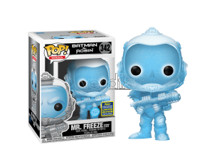 Batman e Robin Funko POP Super Eroi Vinile Figura Mr. Freeze 9 cm Esclusiva