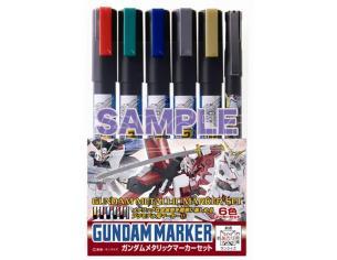 GUNDAM MARKER AMS-121 METALLIC SET COLORI GSI CREOS