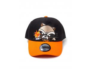 Marvel - Kawaii Rocket Racoon Cappellino Regolabile Curvo Difuzed