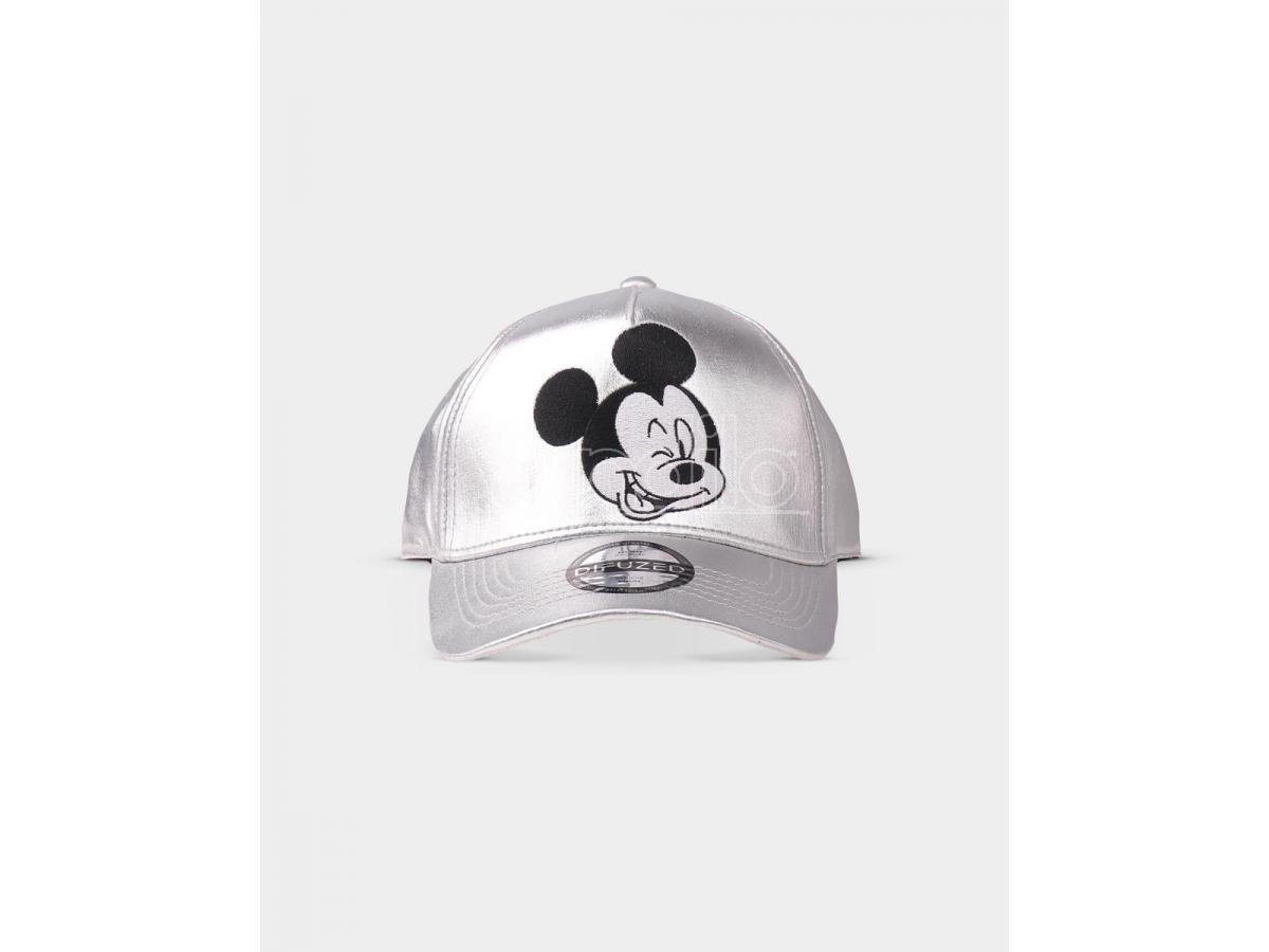 Disney - Mickey Mouse Silver Curved Bill Cap Difuzed